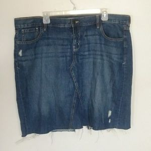 Old Navy Denim Blue Jean Cut Off Skirt size 18